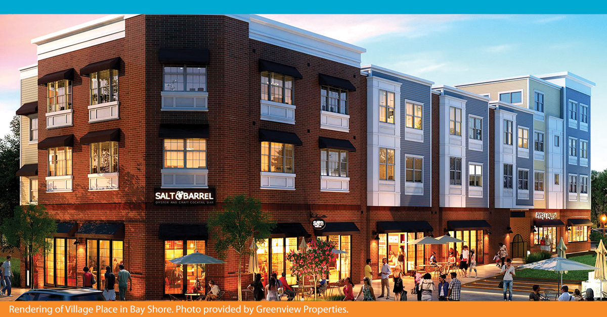 Rendering of Village Place in Bay Shore